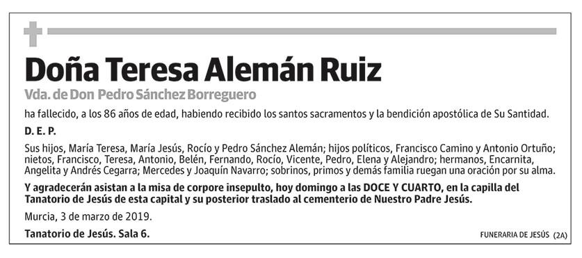Teresa Alemán Ruiz