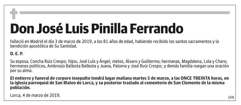 José Luis Pinilla Ferrando