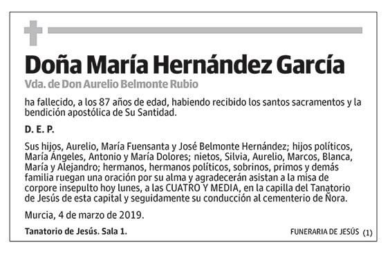 María Hernández García