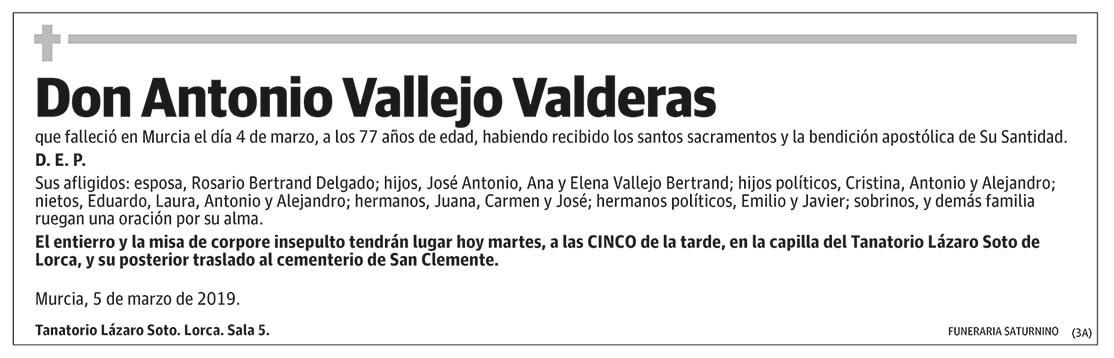 Antonio Vallejo Valderas