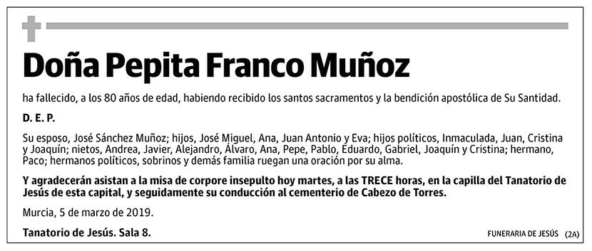 Pepita Franco Muñoz