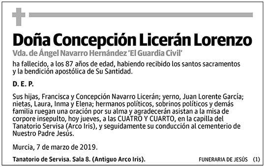 Concepción Licerán Lorenzo
