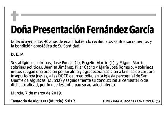 Presentación Fernández García