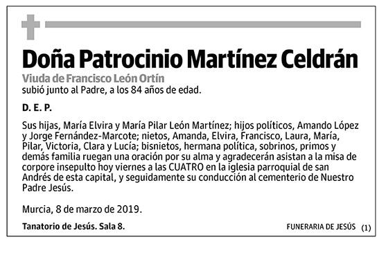 Patrocinio Martínez Celdrán