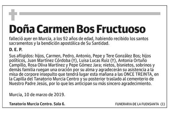 Carmen Bos Fructuoso