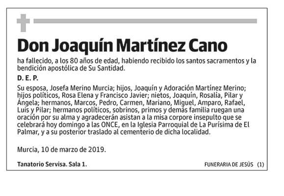 Joaquín Martínez Cano