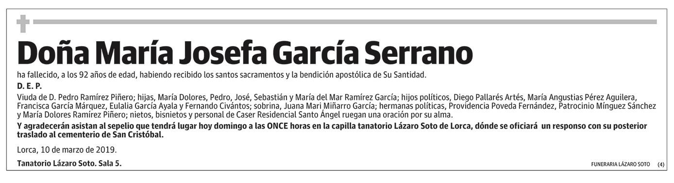 María Josefa García Serrano