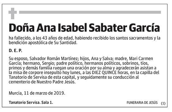 Ana Isabel Sabater García