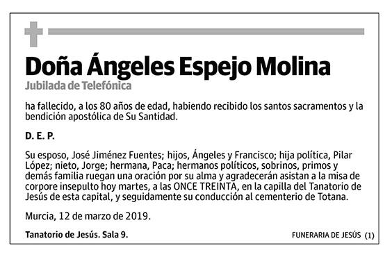 Ángeles Espejo Molina