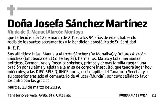 Josefa Sánchez Martínez