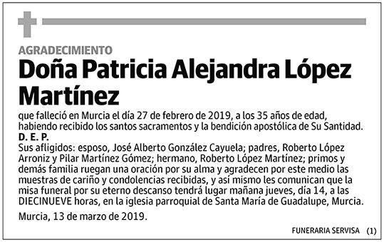 Patricia Alejandra López Martínez