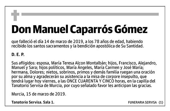 Manuel Caparrós Gómez