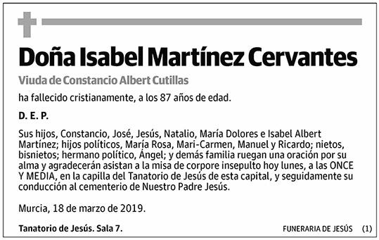 Isabel Martínez Cervantes