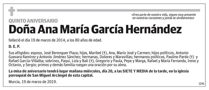 Ana María García Hernández