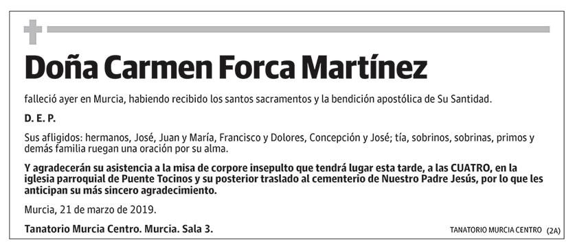 Carmen Forca Martínez