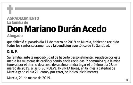 Mariano Durán Acedo