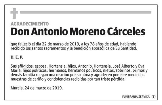 Antonio Moreno Cárceles