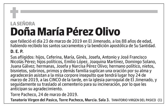 María Pérez Olivo