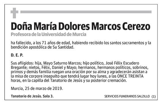 María Dolores Marcos Cerezo