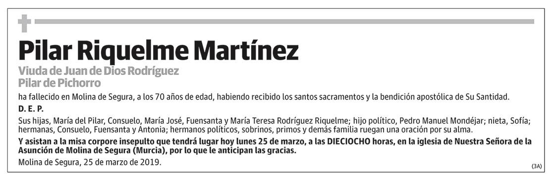 Pilar Riquelme Martínez
