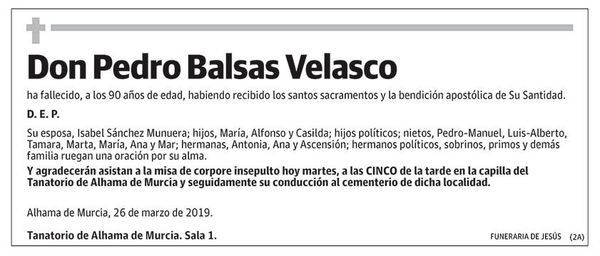 Pedro Balsas Velasco
