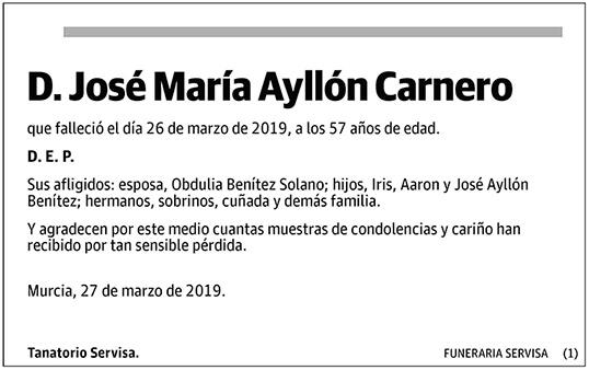 José Ayllón Carnero
