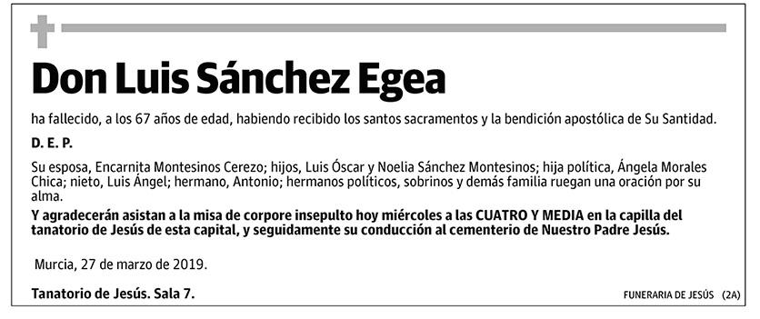 Luis Sánchez Egea