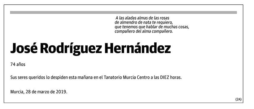 José Rodríguez Hernández