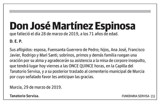 José Martínez Epinosa