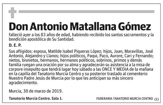Antonio Matallana Gómez