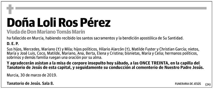 Loli Ros Pérez
