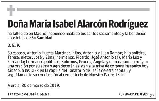 María Isabel Alarcón Rodríguez