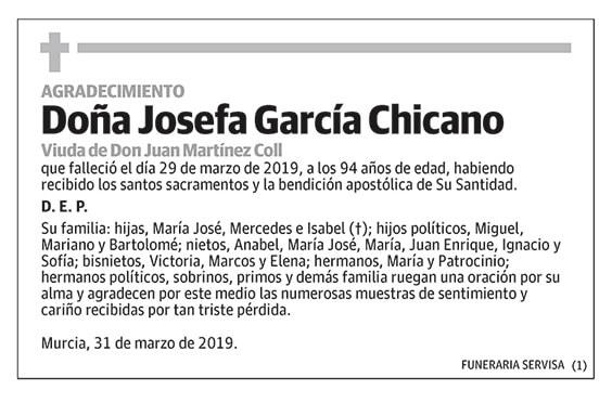 Josefa García Chicano