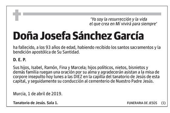 Josefa Sánchez García