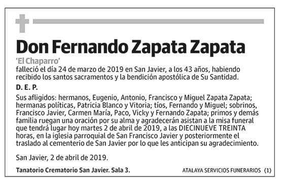 Fernando Zapata Zapata
