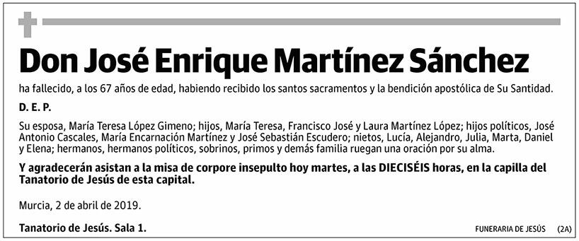 José Enrique Martínez Sánchez