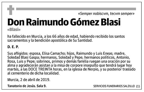 Raimundo Gómez Blasi