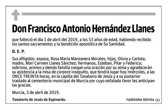 Francisco Antonio Hernández Llanes