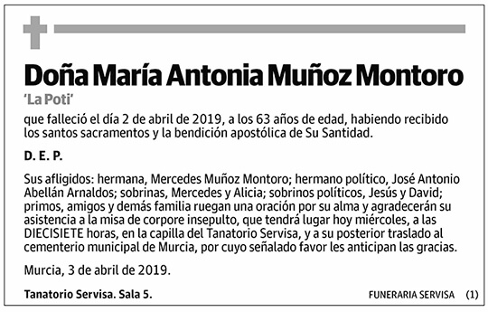 María Antonia Muñoz Montoro