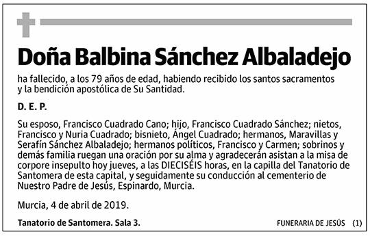Balbina Sánchez Albaladejo