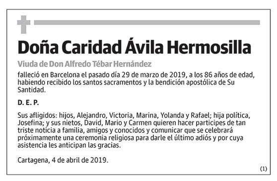Caridad Ávila Hermosilla