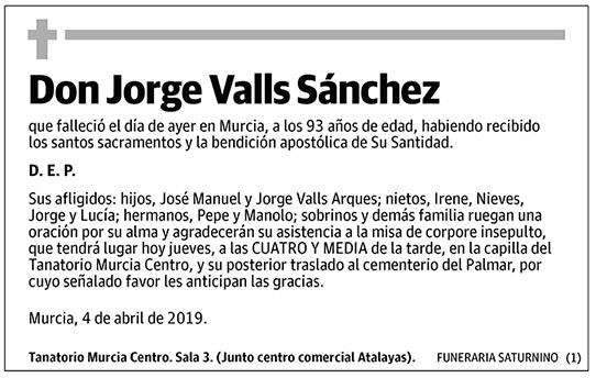 Jorge Valls Sánchez