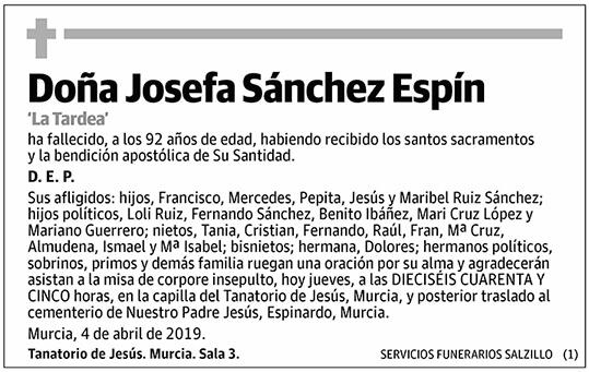 Josefa Sánchez Espín