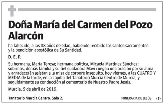 María del Carmen del Pozo Alarcón