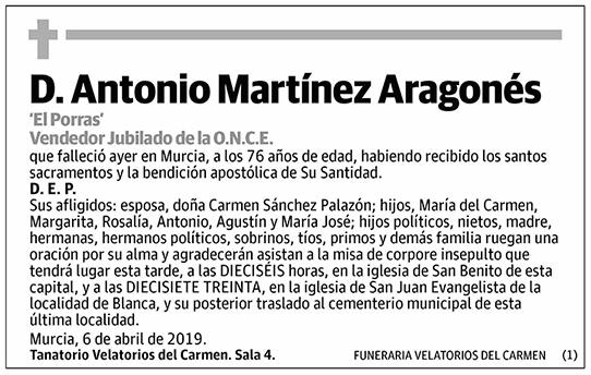Antonio Martínez Aragonés