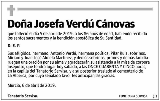 Josefa Verdú Cánovas