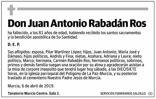 Juan Antonio Rabadán Ros