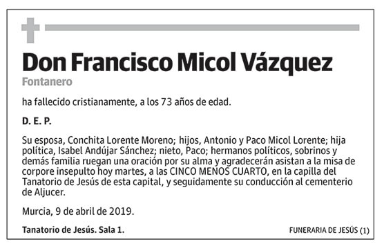 Francisco Micol Vázquez