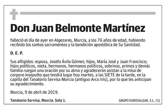 Juan Belmonte Martínez