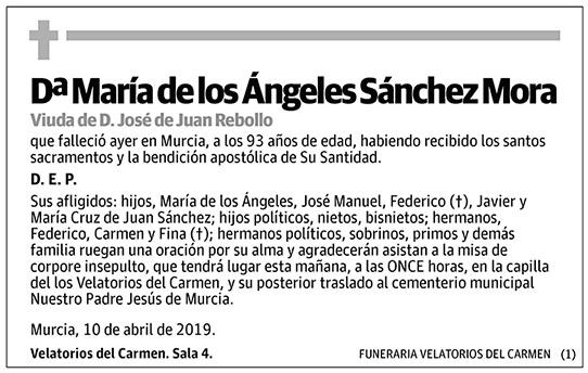 María de los Ángeles Sánchez Mora
